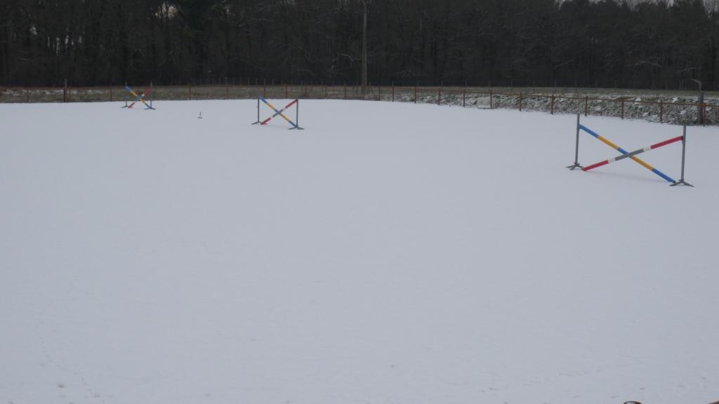 la carrière sous la neige