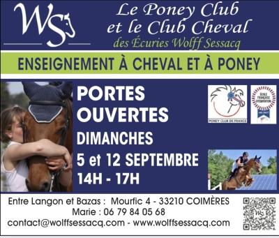 Journées portes ouvertes club et poney club
